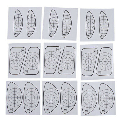 Golf Target Tape 9 Pieces Golf Club Ball Impact Labels Stickers Decal Tape