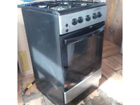 Gas Cooker Black 50cm