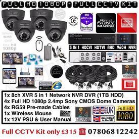 4 Cameras Full HD 1080P CCTV Kit