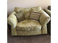 Large Green DFS Armchair / Cuddler