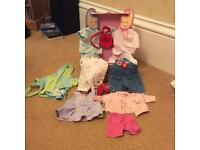 Baby born dolls clothing and chest