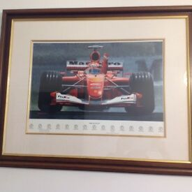 Michael Schumacher 'Dream Team' framed photo