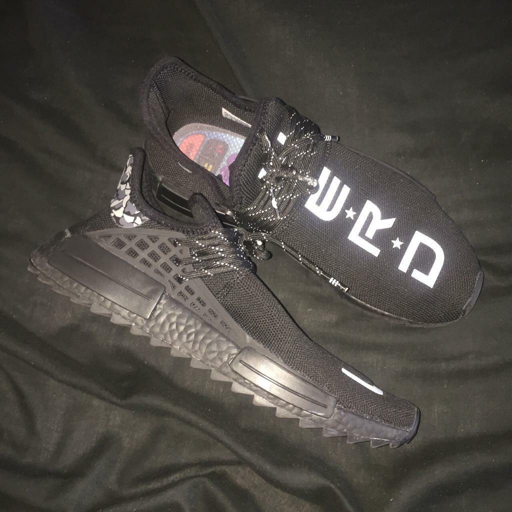 e4b3aac91 Adidas X Pharell Williams Human Race NMD  You Nerd  BLK White