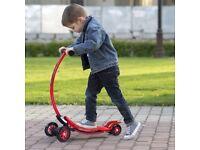 Costway UK C-shaped Foldable Kids Push Scooter Kick 4 Wheels Rear Brake Skate Board Slider
