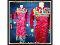 Ready Made Marina Ladies Linen Shalwar Trouser Embroidery Kameez Shawl Suit