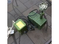 Water pump & fountain by Hozelock 220/240 volt input.transformer 54VA.24 volt output