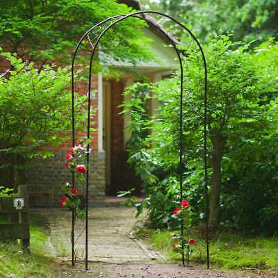 Nature Arco de Jardín de Metal Negro Rosa Plantas Enredadera Pérgola Terraza