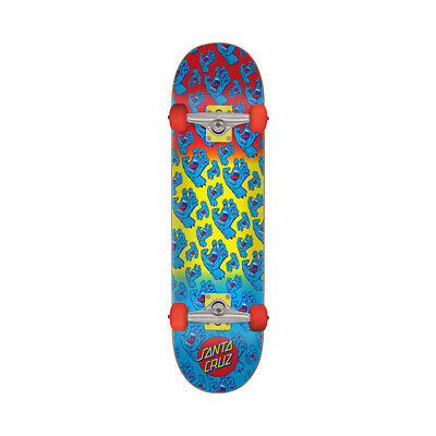 "Santa Cruz Skateboard Complete Hands Allover Yellow 7.8"" x 31.7"""