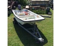 Dell Quay Dory 13ft boat with Yamaha outboard and trailer