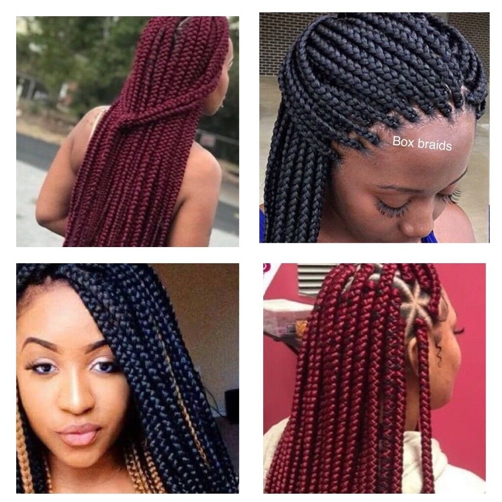 European Asian Afro Caribean Hair Braiding Box Braids Cornrows