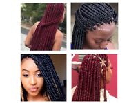 European/Asian/afro/Caribean hair braiding, box braids, cornrows, Senegalese twist, crochet, weaves.