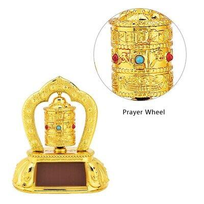 Car Interior Decor - Tibetan Tibet Buddhist Solar Energy Prayer Wheel Spinning