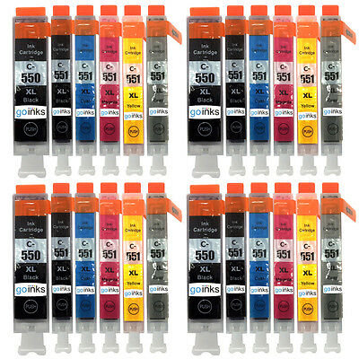 24 Ink Cartridges for Canon PIXMA iP8700 iP8750 MG6350 MG7150 MG7500 MG7550