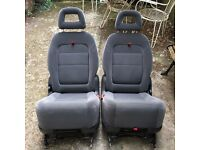TWO FORD GALAXY (2001-2006) car second row seats, baby and kid suitable