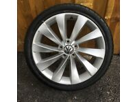 1x 18'' GENUINE VW SCIROCCO INTERLAGO ALLOY WHEEL PASSAT CC SPARE SINGLE TURBINE TYRE