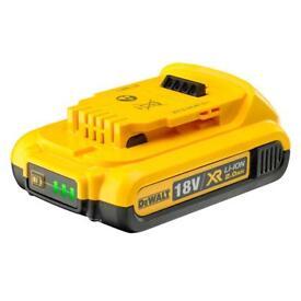 Dewalt 18v batteries new !!! 2 ah