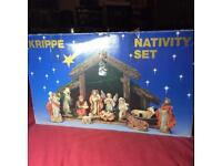 Large Vintage Krippe Nativity Set
