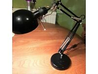 Industrial Style Black Angle Poise Desk Lamp