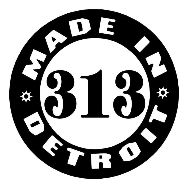 MADE IN DETROIT 313 AREA CODE PRIDE I PAD VINYL CAR TRUCK WINDOW DECAL STICKER