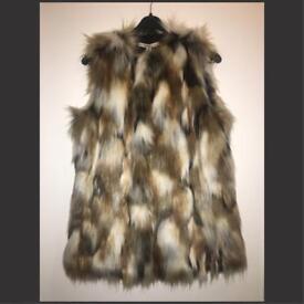 Multi coloured fur waistcoat.