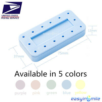 Easyinsmile Dental Rectangular Magnetic Bur Block Holds Fgra Burs Autoclave 1pc
