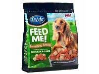 800g HiLife Feed Me! Something Special With Chicken, Lamb & sliced Sausages Moist & Meaty Dog Food