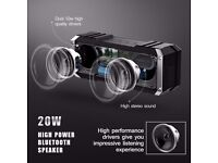 20W Bluetooth Speaker, Wireless Dual 10W Drivers, Strong Bass, 2 Subwoofers, Microphone