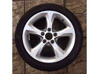 bmw 5 spoke 1 series alloy wheel with tyre 205/50 zr17 93w xl 6778219 Run Flat