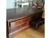 Lovely dark wood 4 drawer coffee table
