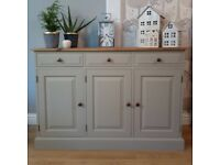 Beautiful Solid Pine Sideboard Painted in Frenchic Salt of The Earth (Greige)
