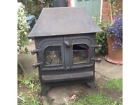 Coal effect Gas stove. Black, Approx 60cm high .