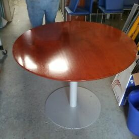 Dark cherry circular table