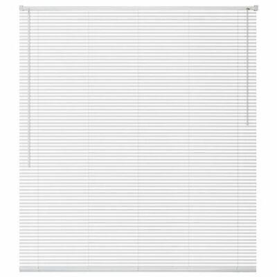 vidaXL Persiana de Aluminio PVC 120x160 cm Blanca Veneciana Cortinas Accesorios