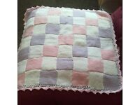 brand new hand knitted baby blanket