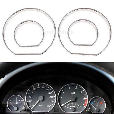 For BMW E46 M3 00-06 Chrome Speedo meter Gauge Dial Rings Bezel Trim AC Tech