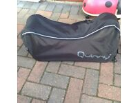Quinny buggy with Raincover, bag, baby seat and adapters