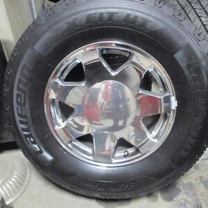 "2010 GMC DENALI CHROME 17"" RIMS / WHEELS WITH NEW HT 265/70R17 TIRES"