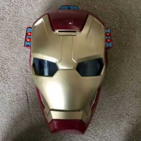 Marvel Avengers Iron Man 3 ARC FX Mission Mask With Firing Bullets.