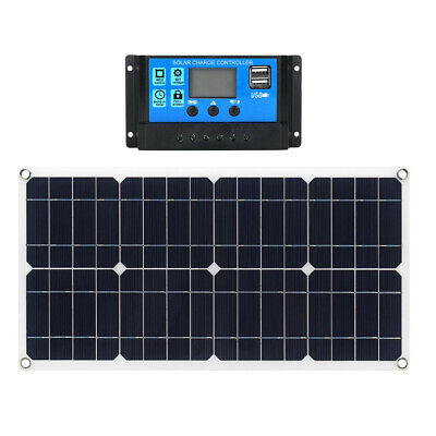 Used, 30W 10A 12V 24V Flexible Solar Panel Kit for Caravan,Boat,Camping Farm,Car for sale  Shipping to South Africa
