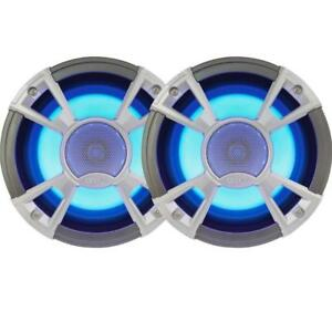 "Clarion Marine Audio Systems - CMQ1622RL 6.5"" Marine Speaker with Built-in Blue LED Light (Pair)"