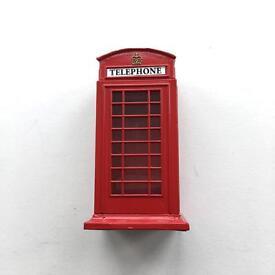 London telephone box money tin