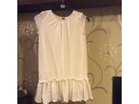 White lace dress, Zara kids, years 13-14