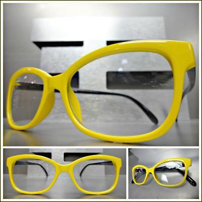 Women's Classy Elegant Exotic CAT EYE READING EYE GLASSES READERS Yellow (Classy Reading Glasses)