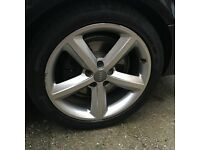 "18"" audi a4 sline alloys AND TYRES GENUINE 4x112"