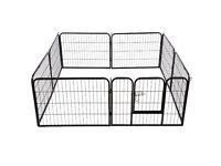 Pawhut 0.8x0.8m Pet Rabbit Guinea Dog Pig Puppy Playpen Metal Hutch Cage House