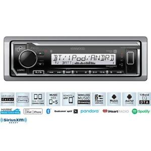 In Store Clearance Display Kenwood KMR-M322BT Bluetooth Marine Audio Head Unit AM/FM/USB Sirius XM Satellite Ready