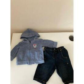 Hoodie & Jeans Outfit 0-3m