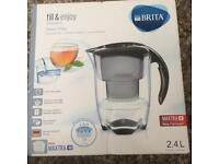 Brita Elemaris Cool MAXTRA+ Plus Water Filter Fridge Jug + Cartridge Black