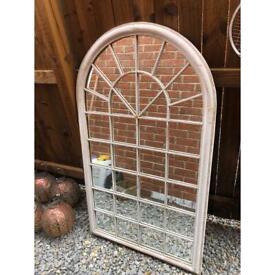 Outdoor arched garden mirror 76cm x 130cm