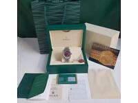 Rolex Ladies DateJust Pink Strap White Face - Complete Set Box And Papers 1YFW
